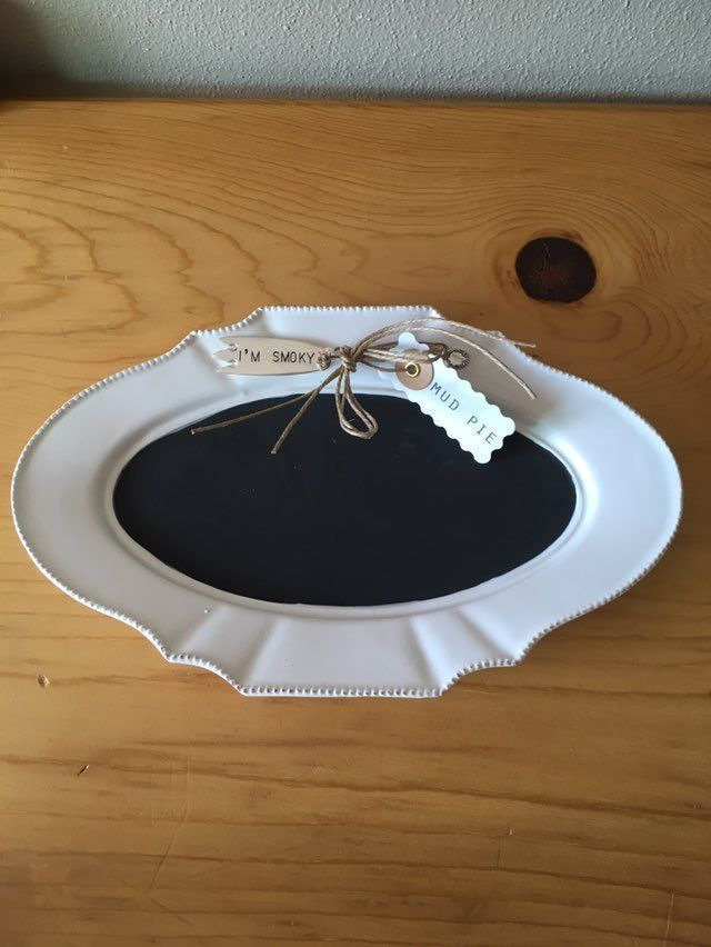 Mud Pie Round Chalkboard Cheese Tray