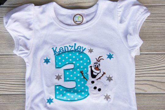 Olaf Birthday Shirt