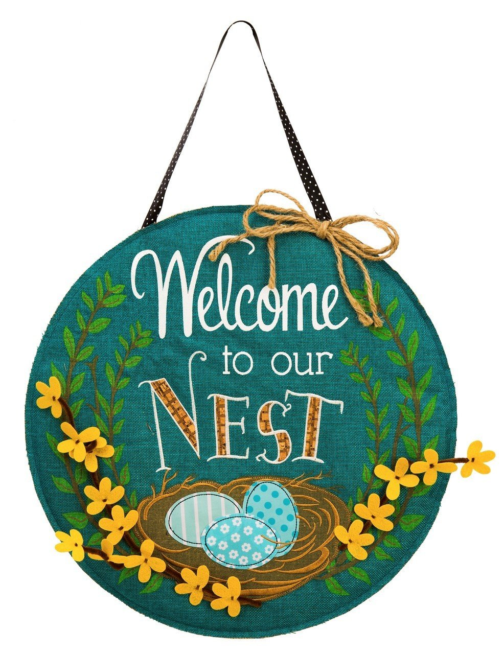Welcome To Our Nest Door Hanger by Evergreen