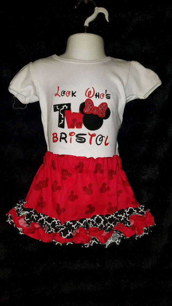 Minnie Mouse Birthday Outfit - Second Birthday
