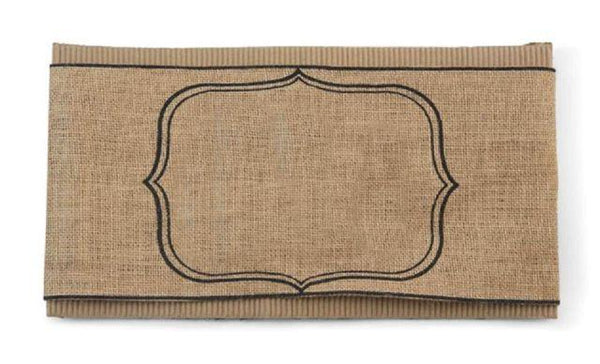 Burlap Blank Pillow Wrap by Mud Pie La Boutique