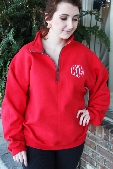 Quarter Zip Sweatshirts w/ Monogram