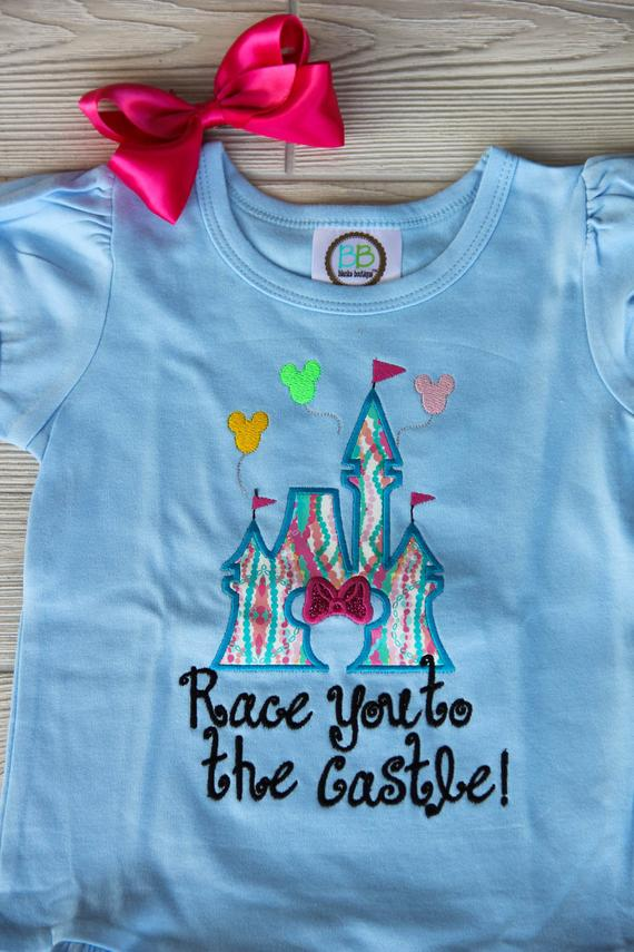 Race you to the Castle - Girls Disney Shirt