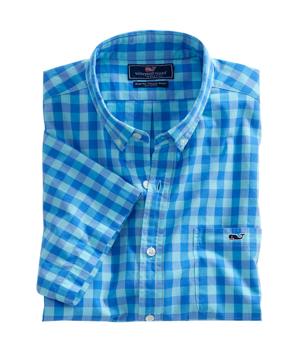 Short-Sleeve Slim Fit Tucker Shirt - Fort George Check