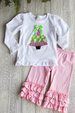 Christmas Tree Ruffle Tee