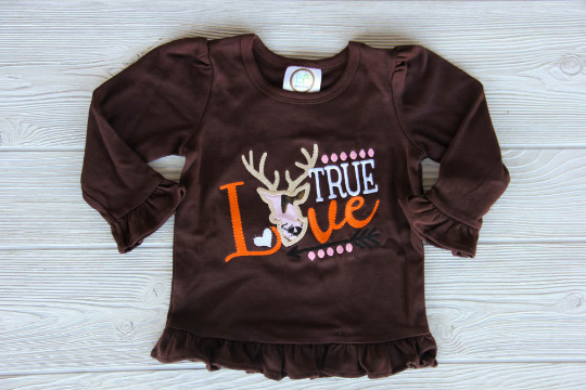 True Love Ruffled Tee