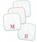 Mud Pie Initial Blue or Pink Wash Cloths