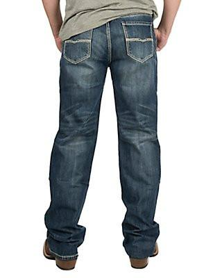 Rock & Roll Cowboy Men's Dark Wash Double Barrel