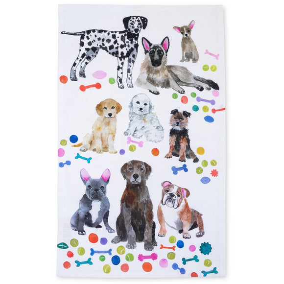 Betsy Olmsted Design Dogs Tea Towel- 15