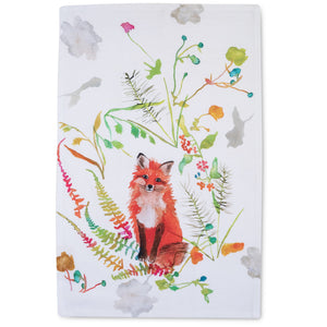 "Betsy Olmsted Design Tea Towel-Fox (15"" x 24"")"