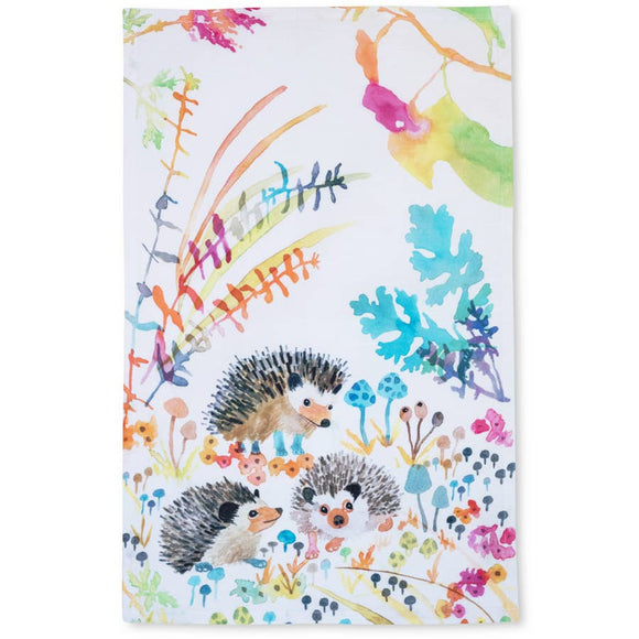 "Betsy Olmsted Hedgehog Tea Towel (15"" x 24"")"