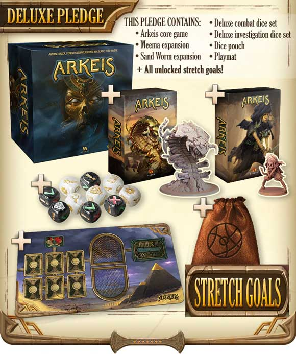 Arkeis Kickstarter Deluxe Order The Game Steward thegamesteward Created by Ankama BoardGames