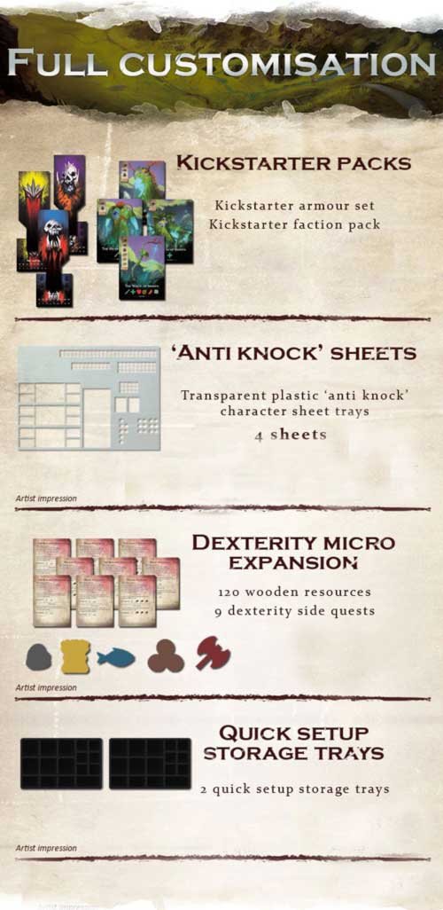 City of Kings Kickstarter Deluxe Edition The Game Steward Trays Kickstarter Pack Microdexterity expansion