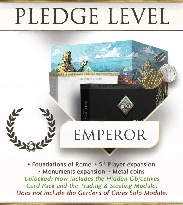 foundations of rome emperor kickstarter order the game steward thegamesteward