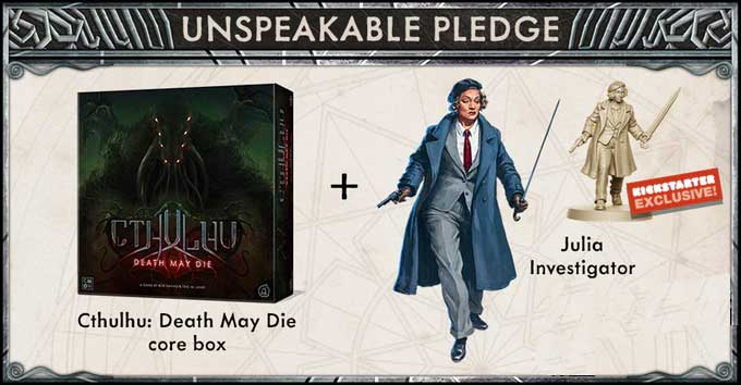 cthulhu-death-may-die-julie-pledge-kickstarter-cmon-the-game-steward