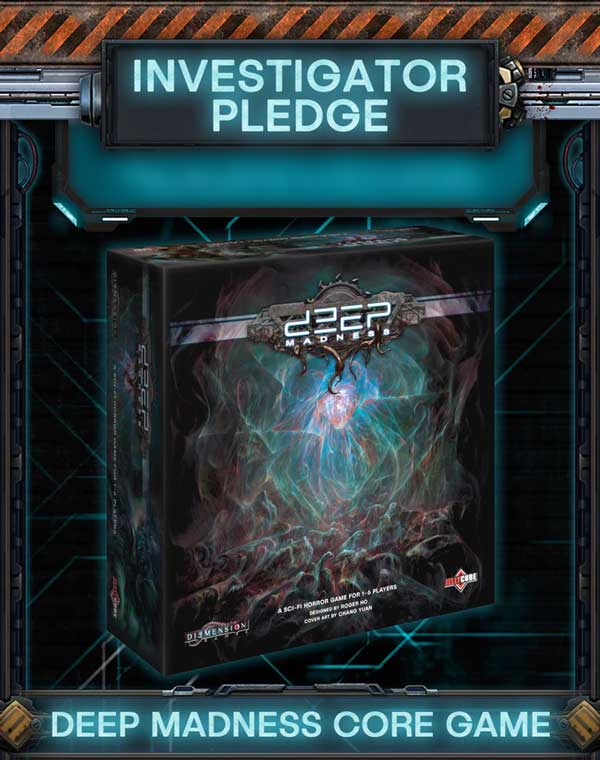 Deep Madness Investigator Order Kickstarter thgamesteward the game steward