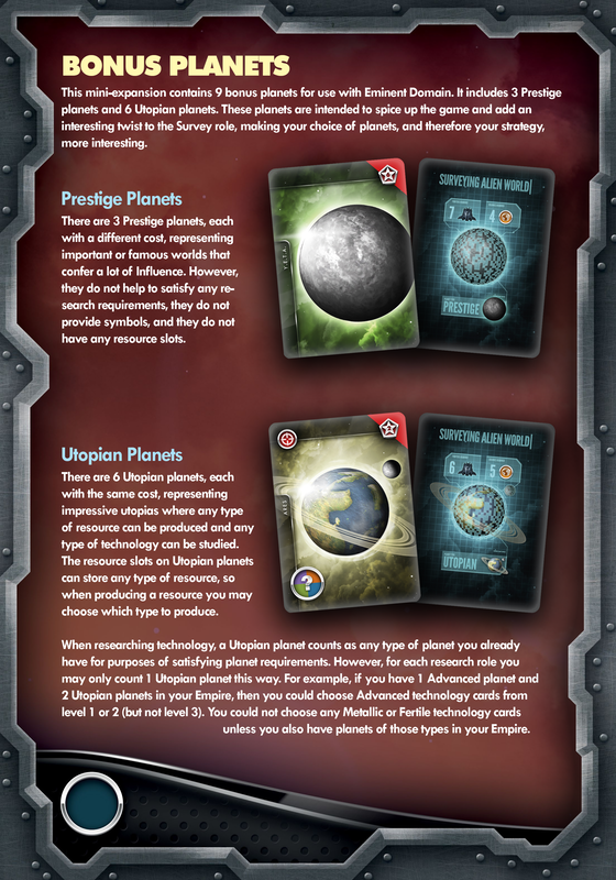 eminent domain kickstarter exclusive prestige planets thegamesteward the game steward