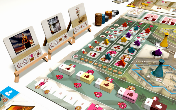 The Gallerist Deluxe Kickstarter Eagle Gryphon Games The Game Steward TheGameSteward