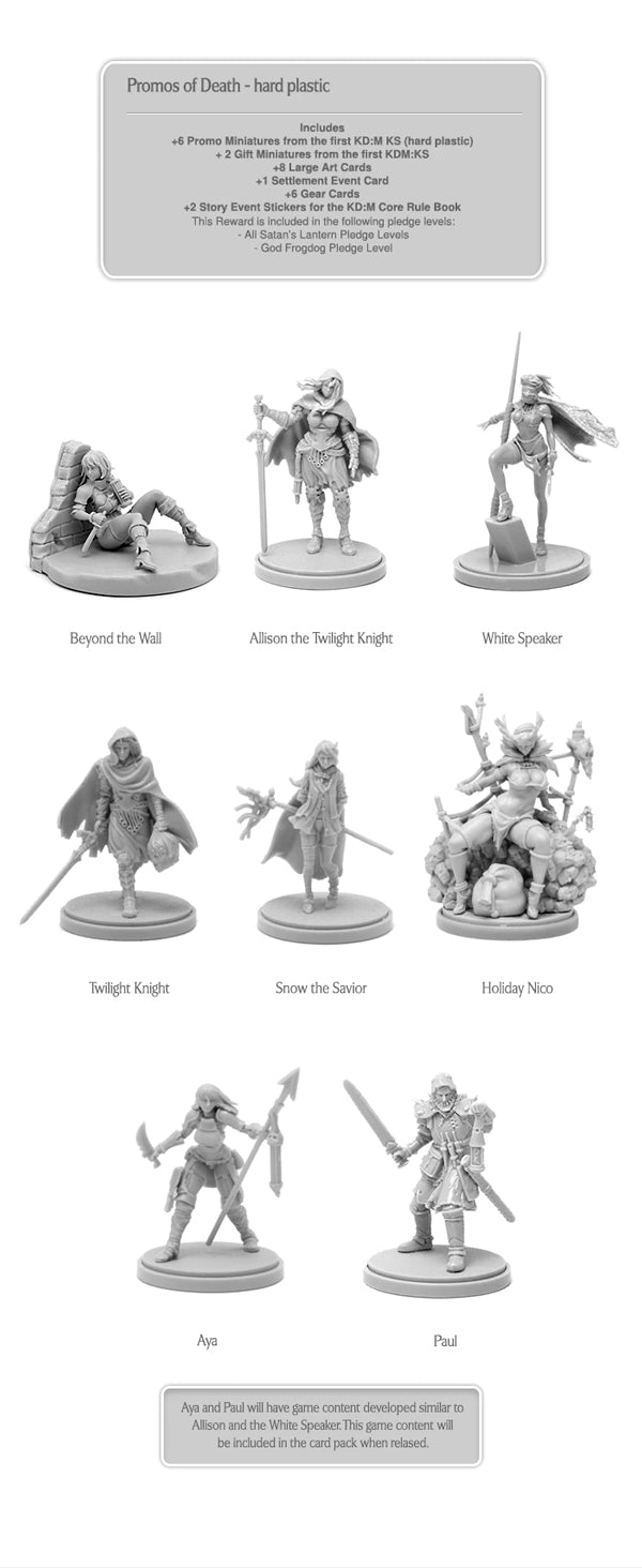 kingdom death monster promos of death kickstarter the game steward thegamesteward