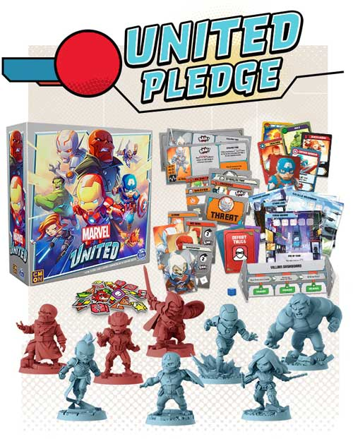 Marvel United Infinity Pledge TheGameSteward The Game Steward Kickstarter buy