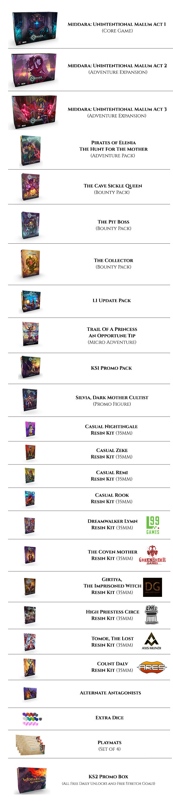 Middara Through The Portal With Swag Order Bundle Kickstarter TheGameSteward The Game Steward