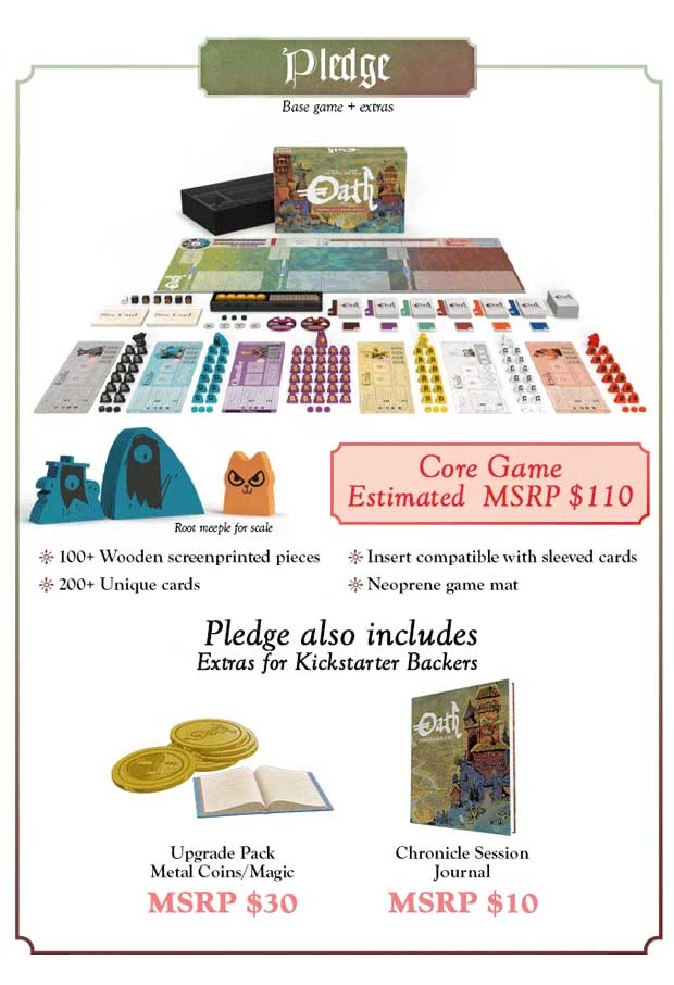 Oath Chronicles of Empire and Exile kickstarter TheGameSteward the Game Steward
