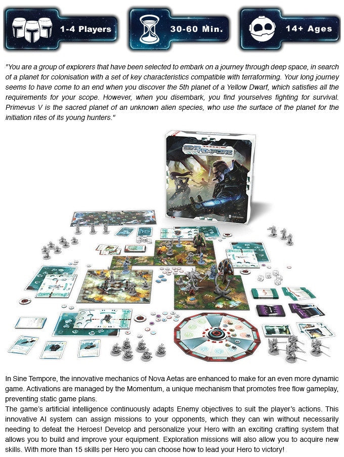 sine tempore explorer pledge kickstarter the game steward