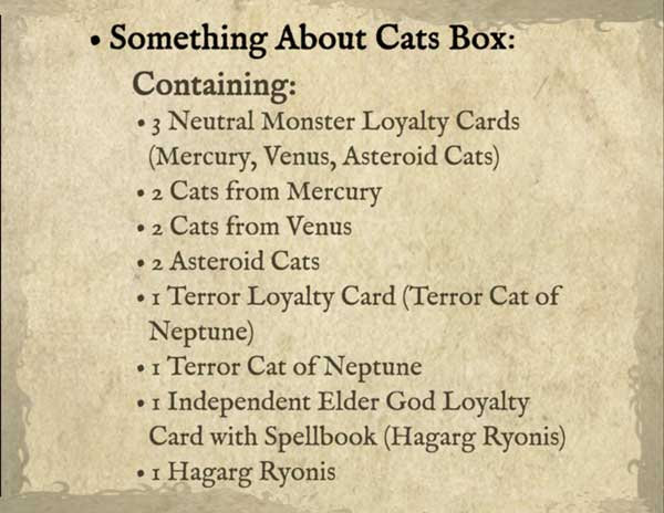 Cthulhu wars kickstarter something about cats box the game steward thegamesteward