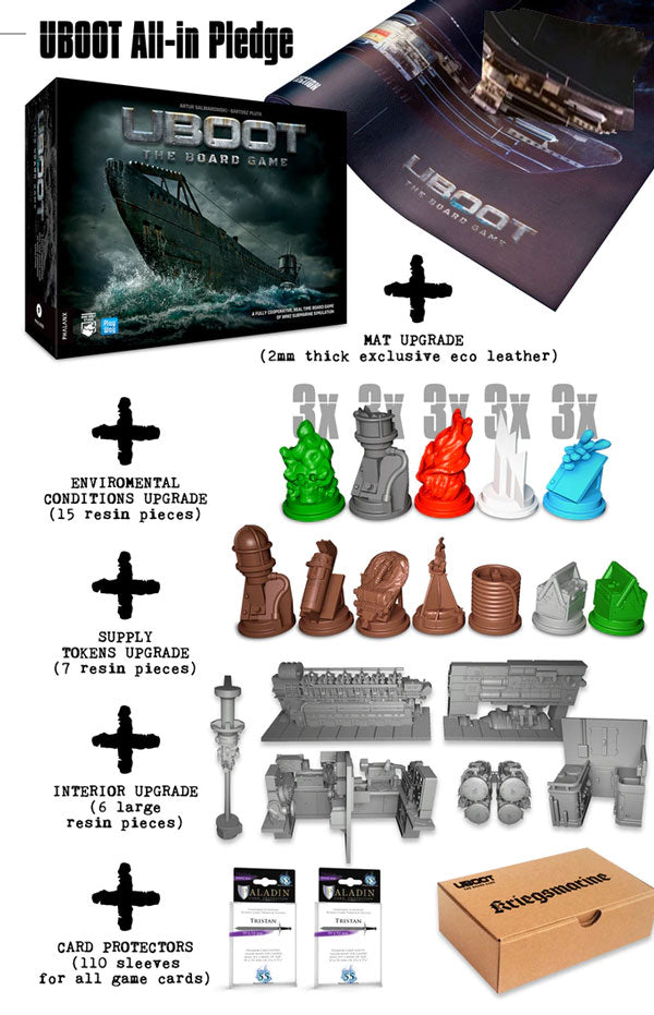 uboot all in kickstarter pledge the game steward thegamesteward PHALANX