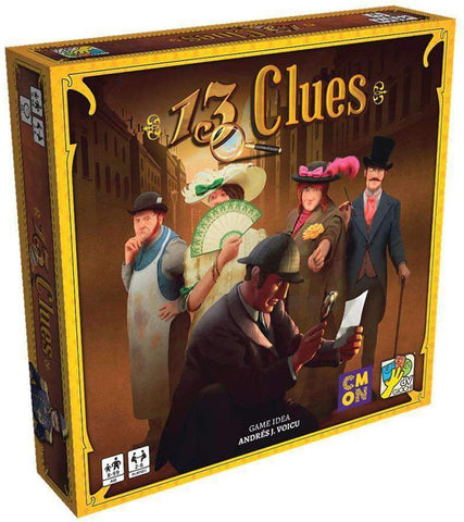13 Clues Retail Board Game CMON Limited, dV Giochi Gigamic 0889696006974 KS000793