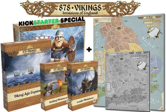 878: Vikings - Invasion of England Bundle (Kickstarter Special) Kickstarter Board Game Academy Games 0736211996480 KS000673