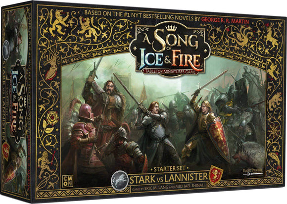 A Song of Ice & Fire TMG - Starter Set - Stark vs Lannister Board Game Geek, Games, Board Games Supplements, Board Games Supplements, CMON Limited, Dark Sword Miniatures, Inc, Asmodee, Broadway Toys LTD, Conclave Editora CMON 0889696005533 KS000720J