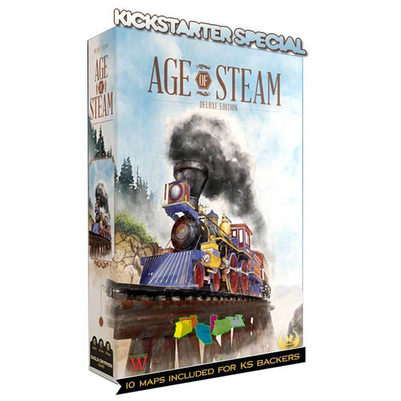 Age of Steam Deluxe Edition: Conductor Pledge (Kickstarter Pre-Order Special) Kickstarter Board Game Warfrog Games