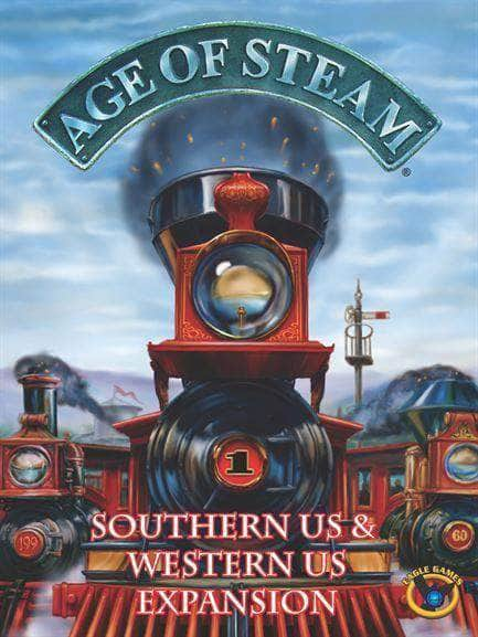 Age of Steam Deluxe Edition: Western Us/Southern Us Map (Kickstarter Pre-Order Special) Kickstarter Board Game Expansion Eagle Gryphon Games KS000922F