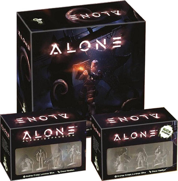 Alone: Rookie Pledge Second Edition (Kickstarter Pre-Order Special) Board Game Geek, Kickstarter Games, Games, Kickstarter Board Games, Board Games, Horrible Games, Alone, The Games Steward Kickstarter Edition Shop, Action Movement Programming, Area Movement Horrible Games