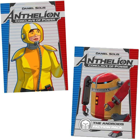 Anthelion: Conclave of Power Plus Androids Expansion Bundle (Kickstarter Special) Kickstarter Board Game Button Shy