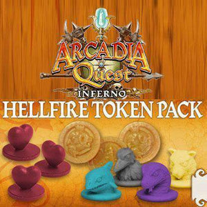 Arcadia Quest: Hellfire Token Pack (Kickstarter Special) Kickstarter Board Game CMON Limited, Edge Entertainment, Spaghetti Western Games