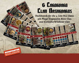 Blood Rage: Cardboard Clan Dashboards (Kickstarter Pre-Order Special) Kickstarter Board Game Accessory CMON Limited