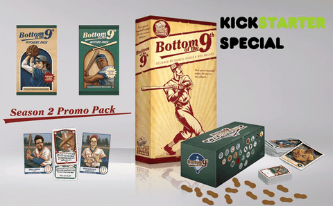 Bottom of the 9th plus Club House Expansion Bundle (Kickstarter Special) Kickstarter Board Game Greater Than Games (Dice Hate Me Games) 0798304339055 KS000627