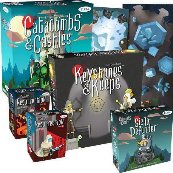 Catacombs & Castles: Queen of Storms Pledge (Kickstarter Special) Kickstarter Board Game Elzra Corp.