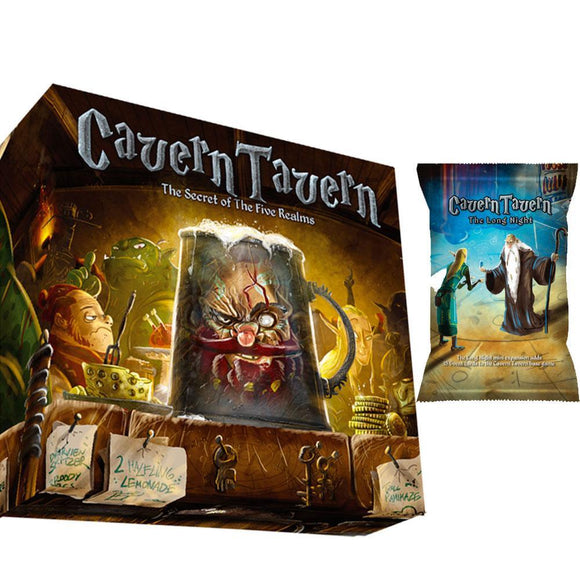 Cavern Tavern Deluxe Edition Plus long Long Night Mini Expansion (Kickstarter Pre-Order Special) Kickstarter Board Game Final Frontier Games