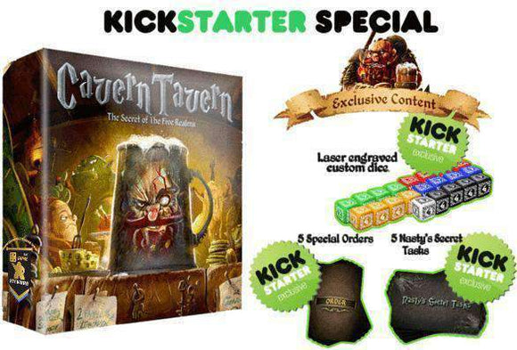 Cavern Tavern Deluxe Edition Plus Long Night Mini Expansion Ding & Dent (Kickstarter Special) Kickstarter Board Game Final Frontier Games 602573121788 KS000095A