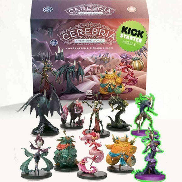 Cerebria Origin Box Pledge with Painted Miniatures Ding and Dent (Kickstarter Special) Kickstarter Board Game Mindclash Games KS000714A