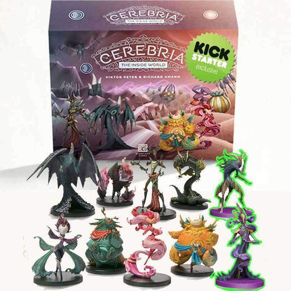 Cerebria Origin Box Pledge with Painted Miniatures (Kickstarter Pre-Order Special) Kickstarter Board Game Mindclash Games