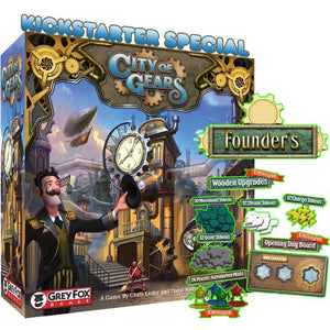City of Gears: Founders Edition (Kickstarter Special) Kickstarter Board Game Grey Fox Games