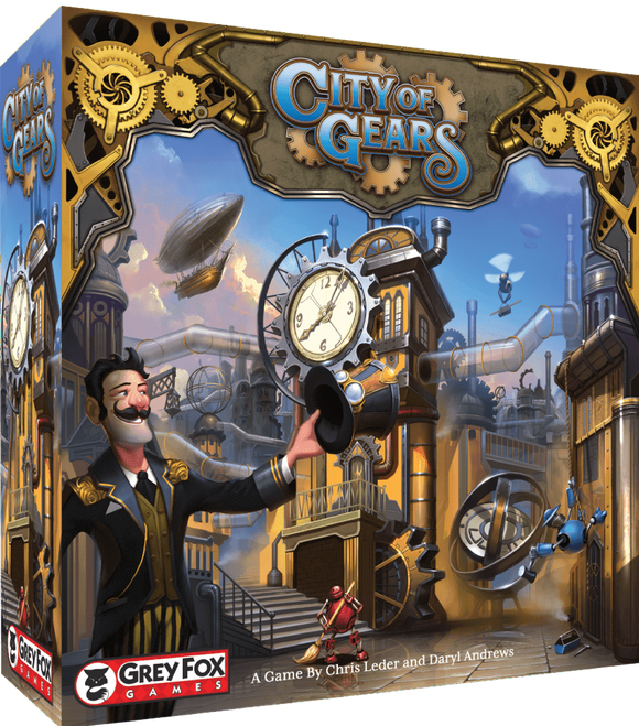 City of Gears: Retail Edition Retail Board Game Grey Fox Games