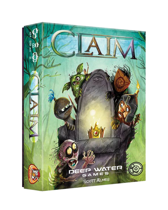 Claim: Core Game Plus Ghosts Expansion & Metal Coin Set Bundle Deep Water Games 682604701363 KS000979A