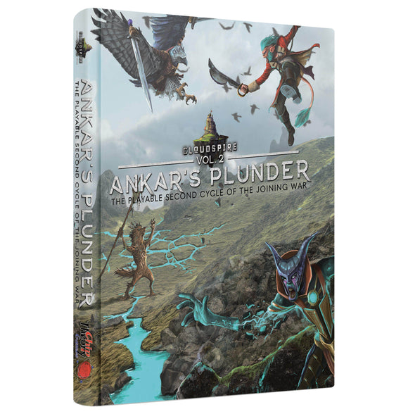 Cloudspire Vol 2: Ankar's Plunder - Hardcover Lore & Scenario Book Pre-Order Board Game Geek, Games, Board Games, Kickstarter Board Games Expansions, Board Games Expansions, Chip Theory Games, Cloudspire Ankars Plunder, Kickstarter Board Games, Action Queue, Cooperative Games Chip Theory Games KS000862C