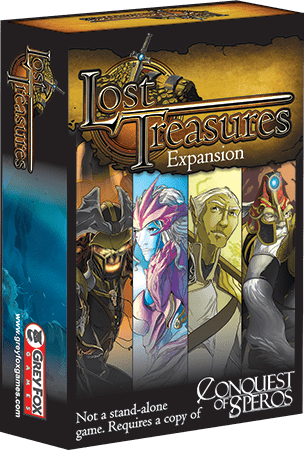 Conquest of Speros: Lost Treasures Expansion Retail Board Game Expansion Grey Fox Games 0661799084291 KS000921B