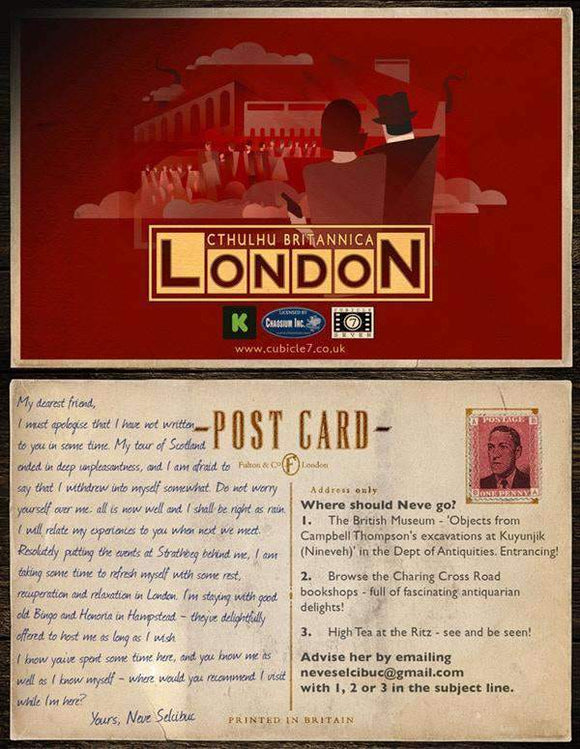 Cthulhu Britannica London: Postcard Set Campaign Accessory (Kickstarter Special) Kickstarter Role Playing Accessory Cubicle7